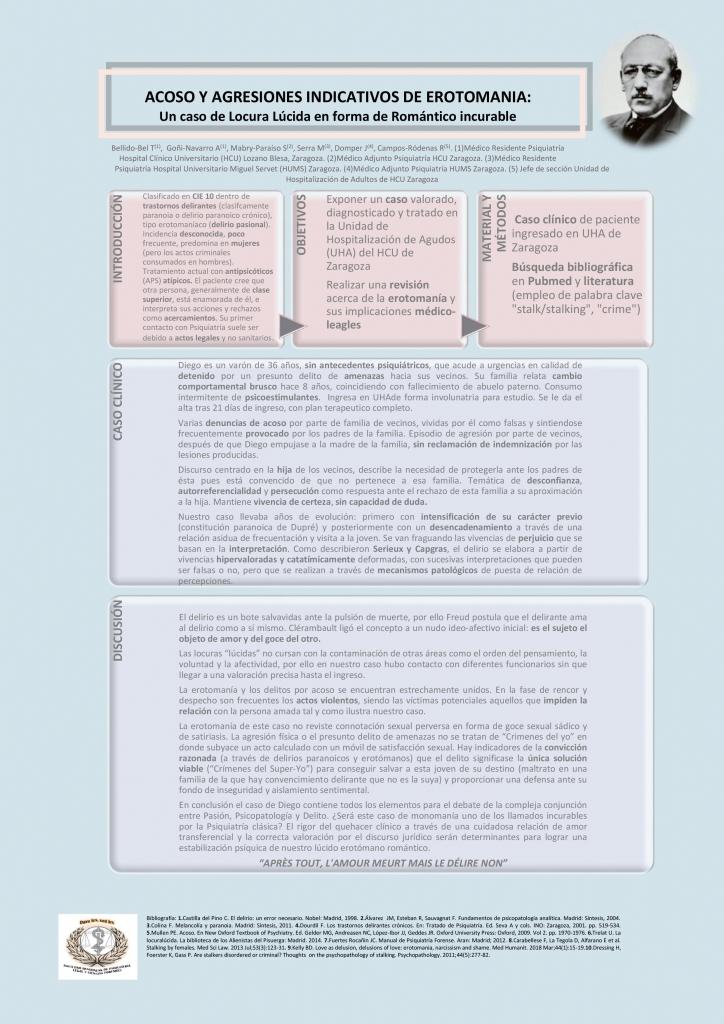 Póster de Acoso y agresiones indicativos de erotomania